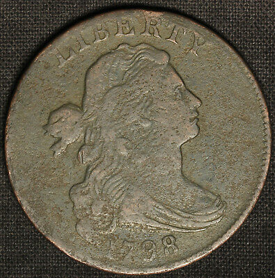 1798 Draped Bust Large Cent - Reverse of 1797 - Free Shipping USA
