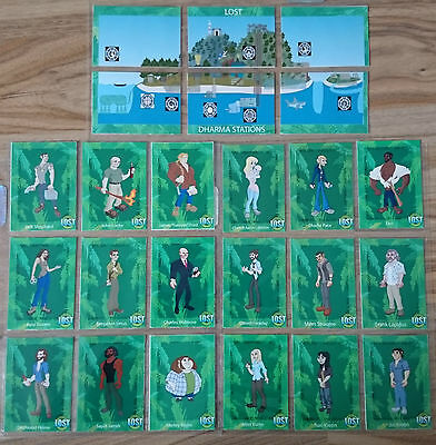 Lost TV Series Premium Trading Card Set rare collection from artist Paul Burrows