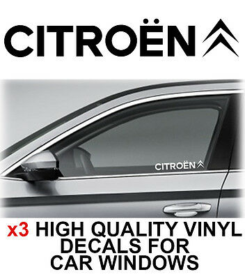 3 x Citroen Window Sticker Decal Graphics