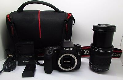 Canon Eos 70D 20.2 Mp Digital Slr Camera Kit With Ef-S 18-135 Mm Lens