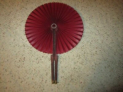 Beautiful Vintage Fold Out Paper Wooden Handle Hand Fan!!!