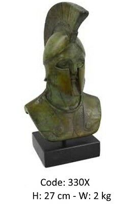 Ancient Greek Bronze Statue Of A Spartan Warrior