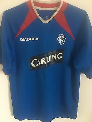 Genuine Rangers Football Soccer Home Shirt Size Small 2003-2005 Glasgow Rangers