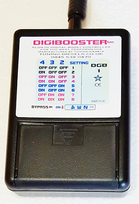 Turbo Boost Adjuster.  Digibooster 1. Plug-In Electronic Turbo Controller.