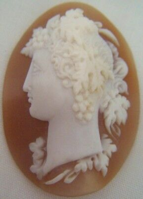 *Antique Mid C19th Century Victorian Age Italian Carved SHELL Cameo Pendant Use?