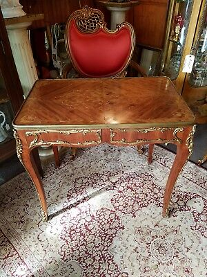 Antique Old French guilded writing desk