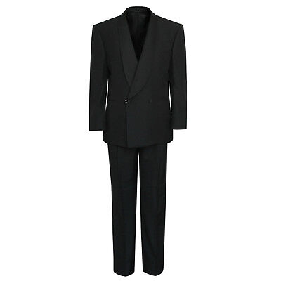 CANALI black shawl collar tux wool silk double breasted tuxedo 50-IT/40-US NEW