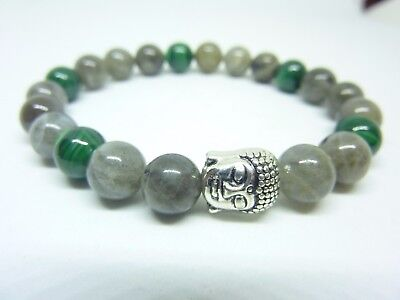 BRACELET  MALACHITE  LABRADORITE force et protection