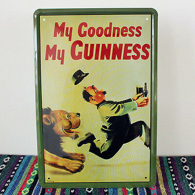 My Goodness My Guinness Stout Beer Metal Tin Sign Deco Bar Pub Tavern Brewery Ad