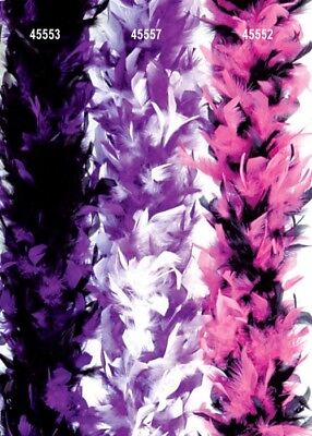 1920s Flapper Purple and White Feather Boa