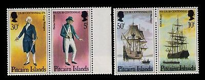 Pitcairn Islands 1976,Fletcher Christian&HMS Bounty SC# 158a-9a MNH Pair