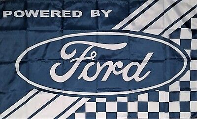 FORD FLAG HUGE Powered By Classic car show, Man Cave, Garage, Shed