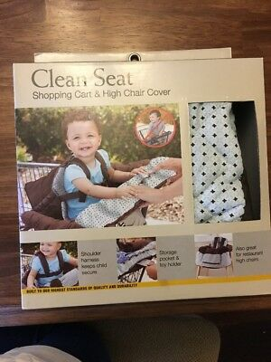 Eddie Bauer Clean Seat Shopping Cart And High Chair Cover