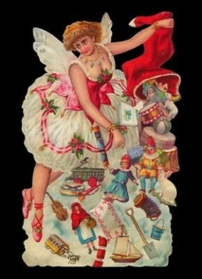 vintage style Die Cut Christmas Tree Fairy For Scrapbooking Scrapbook projects