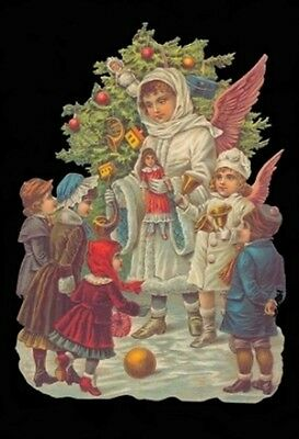 vintage style Die Cut Christmas Angel For Scrapbooking Scrapbook projects