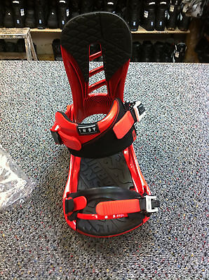 Men's K2 Indy Snowboard Binding color red size large