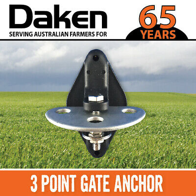 Gate Anchor 3 Point (20Pk) Insulator Electric Fence Daken