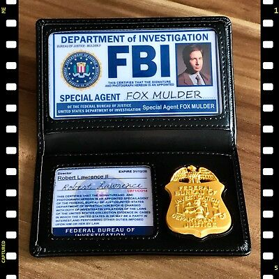 FBI: SPECIAL AGENT ✪ ID, Wallet & Badge ✪ Merchandise: Akte X ✪ The X-Files