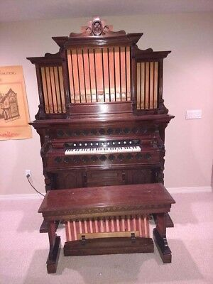 Fully Restored Antique 1879 Pump Organ