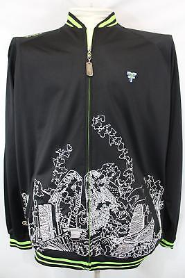 FIVE FOUR FF Sewn On CITY SKYLINE Full Zip URBAN Athletic POLYESTER Jacket 2XL