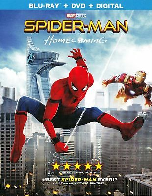 Spider-Man Homecoming 2017 Blu-Ray Dvd Digital Slipcover Brand New Fast Ship