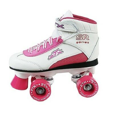 Roller Derby Skate Girls ZTX White Skates Fun pink white Quad Funky Fun Fresh