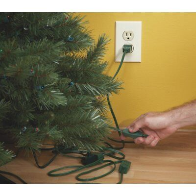 Do It Best Christmas Tree Cord 3 in-Line Polarized Outlets