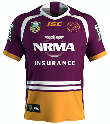Brisbane Broncos 2018 Home Jersey Mens,Womens & Kids NRL 30 Years Logo ISC SALE