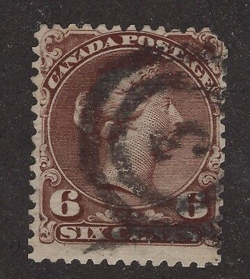 Canada used #27 6c  2 ring No. 3  LARGE QUEEN ISSUE 1868