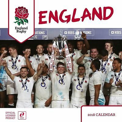 England Rugby Official 2018 Square Wall Calendar
