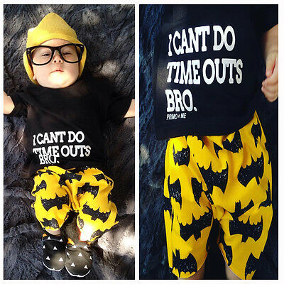 AU Stock Newborn Baby Boys Clothes Short Sleeve Top T-shirt+Pants Shorts Outfits
