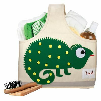 3 Sprouts Baby / Kids Bedroom Storage Caddy - Green Iguana