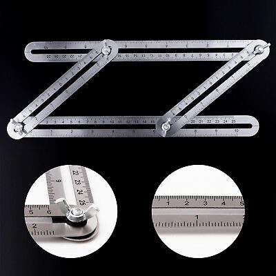 Heavy Metal Multi Angle Measuring Ruler Angleizer Angle-Izer Diy Template Tools