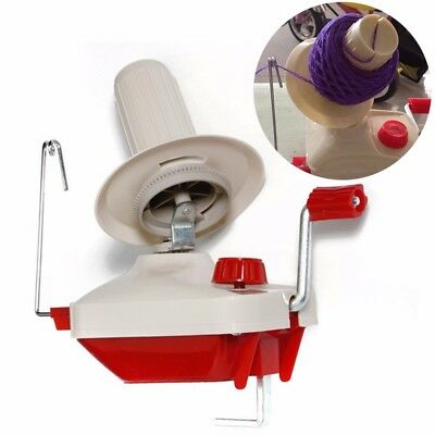 Hand Operated Knitting Roll String Yarn Fiber Wool Thread Ball Winder Holder Set