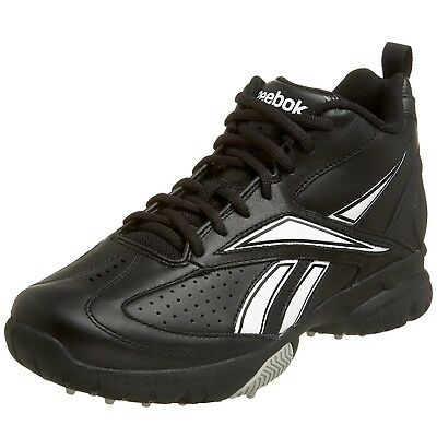 (11 D(M) US, Black/White) - Reebok Men's Field Magistrate Mid Baseball Cleat