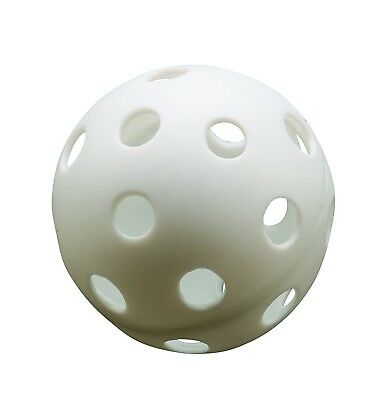 Athletic Specialties Perforated Baseballs Bag of 6 White. Shipping Included