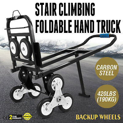 Foldable Stair Climbing Cart 420 Lbs Capacity Hand Truck with Backup Wheels