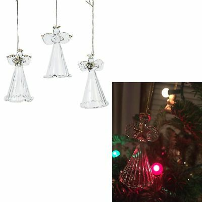 Spun glass angel ornaments christmas tree hang ornaments for Angel christmas tree decoration