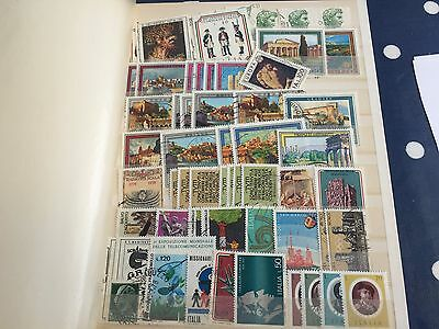 Cyprus & Italy full small stockbook incl better used & mint stamps nice one