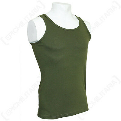 Olive Green Tank Top - Military Army Combat Cotton Men Vest Sleeveless New Sizes