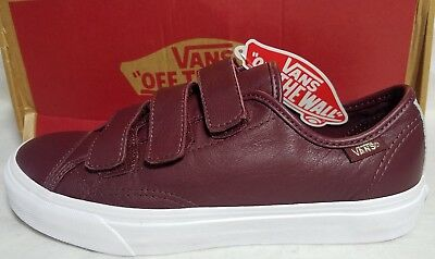 a96ccf9e68 New Vans Style 23 V 2 Tone Leather Men Size 7.5 Metallic Red Port Royale  Shoe