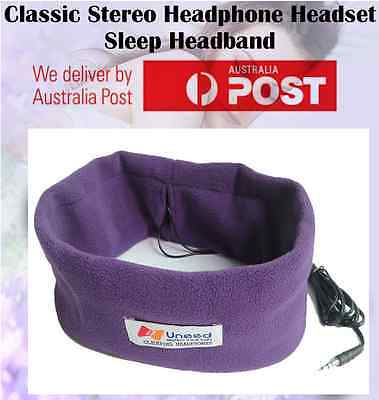 Sleep Headphones SleepPhones Headband Mask for Running Sleeping Relaxing PURPLE