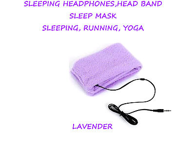 Sleep Headphones SleepPhones Headband Mask for Sleeping Relaxing - LAVENDER
