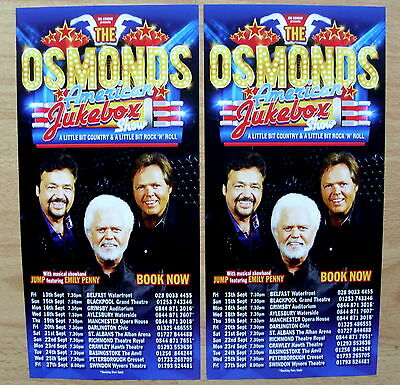 The Osmonds - Concert Flyer - American Jukebox Tour