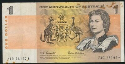 Australia 1966 $1 Coombs-Wilson Star Note R-71s RARE!!