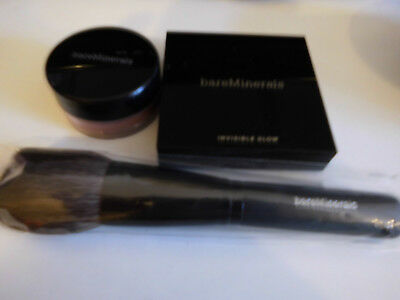 bare Minerals Set:Invisible glow,Rouge, Pinsel