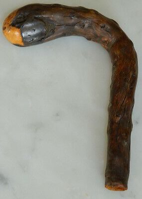 Antique Chinese Root wood? Cane Handle Umbrella Handle Rosewood