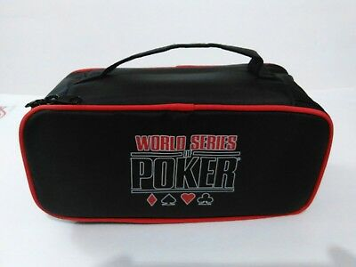 World Series Of Poker Set With Table Mat Chips,  Cards And Carrying Case New