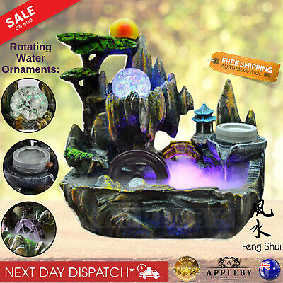 New Water Fountain Feature Indoor Spa Ornament Health Benefits Decor Feng Shui