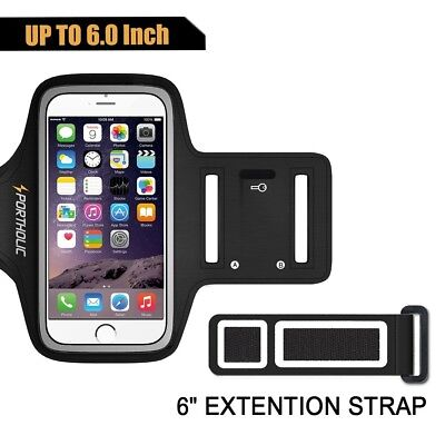 Universal Large Running Armband Phone Holder Exercise Pouch Adjustable Strap New